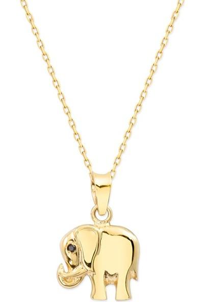 Myra Gold 14 Ayar Altın Mini Fil Kolye (Kly3442)