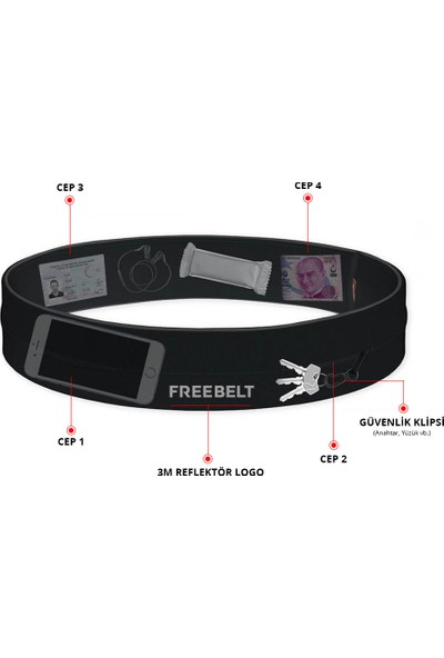 Freebelt Koşu Ve Fitness Kemeri