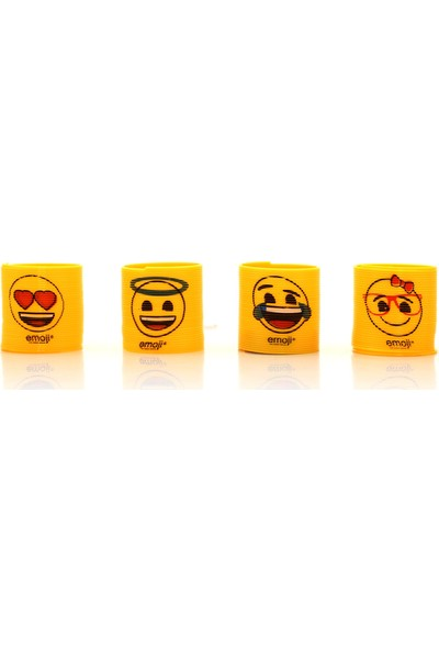 Emoji Emojili 4 Adet Stres Yayı Emojili Stres Halkası
