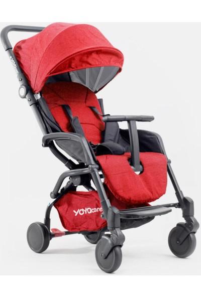 Yoya Care Bebek Arabası Siyah Kasa - Kırmızı