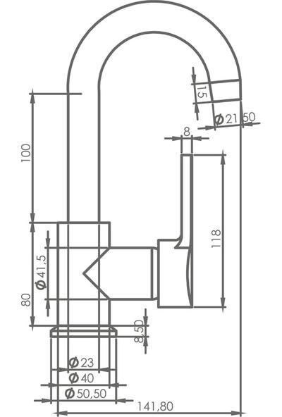 Truva Aqua Kuğu Lavabo Bataryası