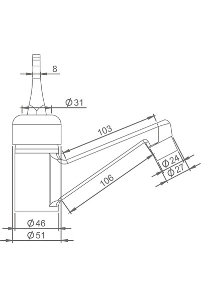 Truva Cemre Lavabo Bataryası