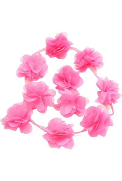 ByOzras Lazer Kesim Şifon Çiçek 50'li Paket - Fuşya