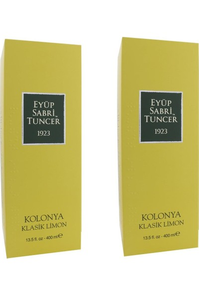 Eyüp Sabri Tuncer Limon Kolonyası 400 ml x 2'Li Set