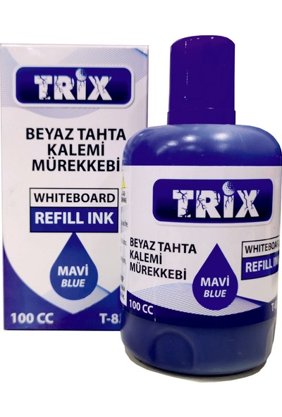 Trix Beyaz Tahta Kalemi Mürekkebi 100 ml Mavi