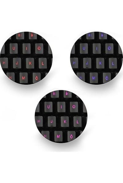 Rampage KM-R77 Siyah USB 3 Color Led LC Layout Multimedia Oyuncu Klavye + Mouse Set