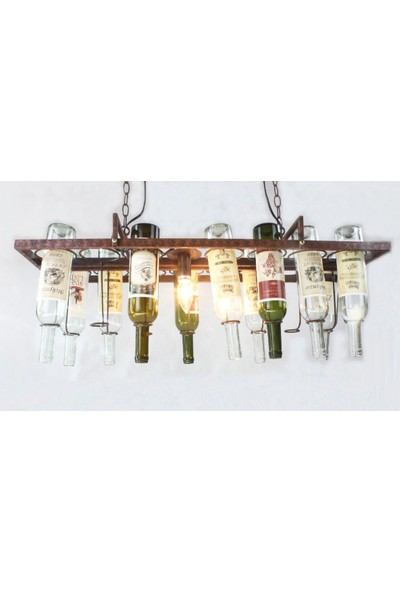 Tsd Dekorasyon Metal Asılı Şaraplık Avize