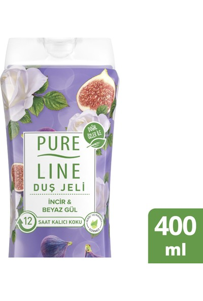 Pure Line İncir & Beyaz Gül Duş Jeli 400 ML