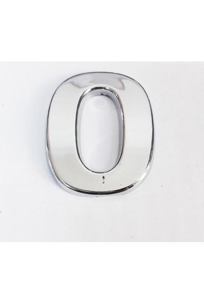 Cemax Yapışkan Krom 0 Rakamı 2,5 cm