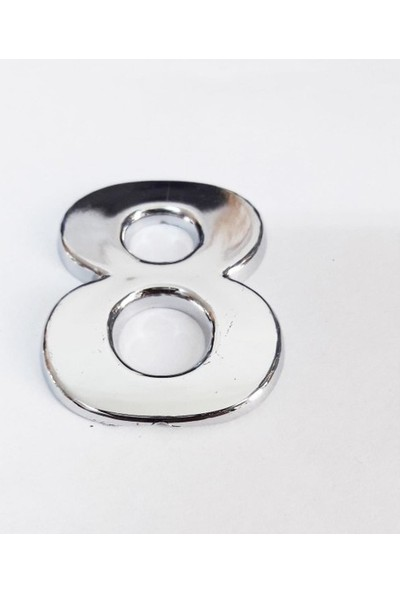 Cemax Yapışkan Krom 8 Rakamı 2,5 cm