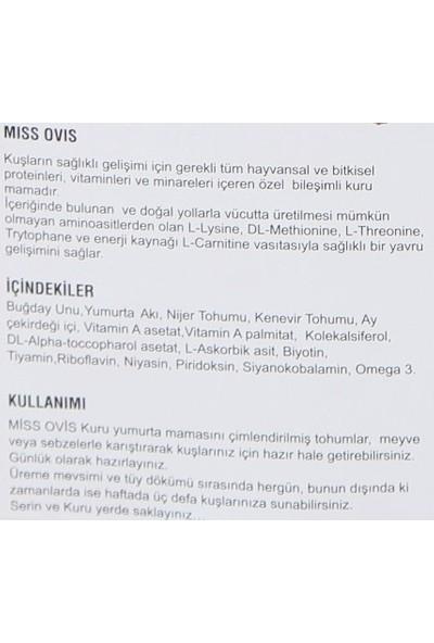 Miss Ovis Kanaryalar İçin Bianco Kuru Mama, 1 Kg Ambalajlı