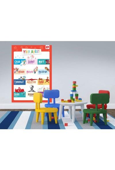 Ps Eğitici Öğretici Poster Seti Türkçe İngilizce 12 Poster 35X50Cm