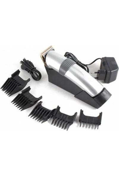Atasbey Profesyonel Şarj Standlı Saç Sakal Kesme Tıraş Traş Makinesi