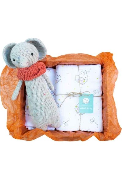 Astral Baby Uyku Arkadaşı Benekli Fil ve Müslin Set Paketi