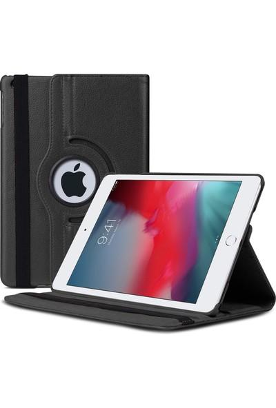 Microsonic Apple iPad Mini 5 7.9'' 2019 (A2133-A2124-A2125-A2126) Kılıf 360 Rotating Stand Deri Siyah