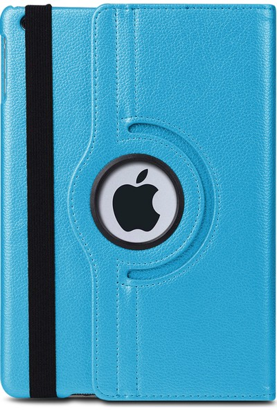 Microsonic Apple iPad Mini 5 7.9'' 2019 (A2133-A2124-A2125-A2126) Kılıf 360 Rotating Stand Deri Mavi