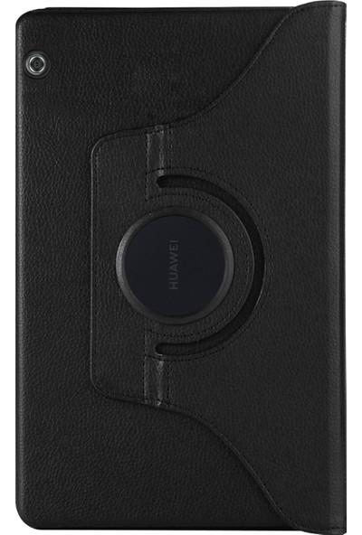 Microsonic Huawei MediaPad T3 10'' Kılıf 360 Rotating Stand Deri Siyah