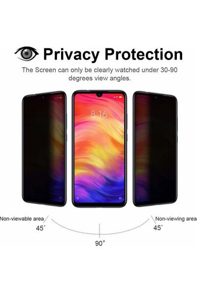 Microsonic Xiaomi Redmi Note 7 Pro Privacy 5D Gizlilik Filtreli Cam Ekran Koruyucu Siyah