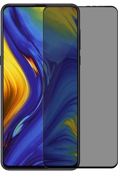 Microsonic Xiaomi Mi Mix 3 Privacy 5D Gizlilik Filtreli Cam Ekran Koruyucu Siyah