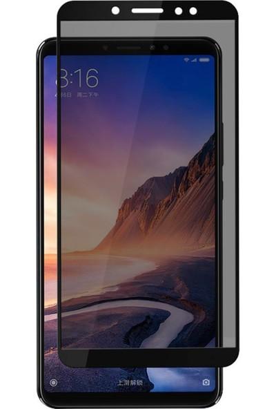 Microsonic Xiaomi Mi Max 3 Privacy 5D Gizlilik Filtreli Cam Ekran Koruyucu Siyah