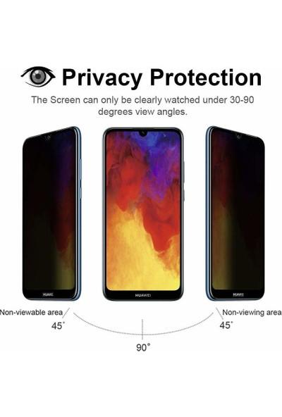 Microsonic Huawei Y7 Prime 2019 Privacy 5D Gizlilik Filtreli Cam Ekran Koruyucu Siyah