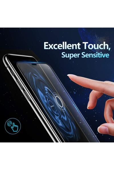 Microsonic Apple iPhone 11 (6.1'') Tam Kaplayan Temperli Cam Ekran Koruyucu Siyah