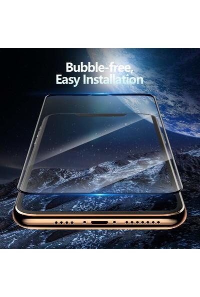Microsonic Apple iPhone 11 Pro Max (6.5'') Tam Kaplayan Temperli Cam Ekran Koruyucu Siyah