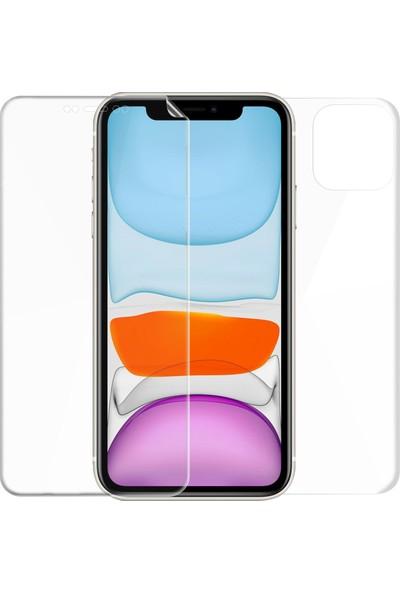 Microsonic Apple iPhone 11 (6.1'') Ön + Arka Kavisler Dahil Tam Ekran Kaplayıcı Film