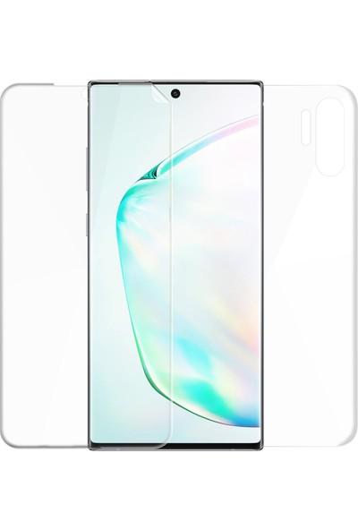 Microsonic Samsung Galaxy Note 10 Plus Ön + Arka Kavisler Dahil Tam Ekran Kaplayıcı Film