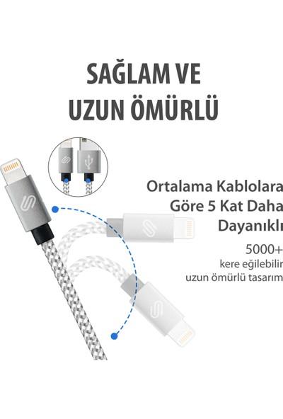 Qspeed Lightning Şarj ve Data Kablosu Gümüş - 1 mt