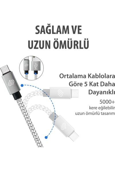 Qspeed Micro USB Şarj ve Data Kablosu Gümüş - 2'li Set (1-2 mt)