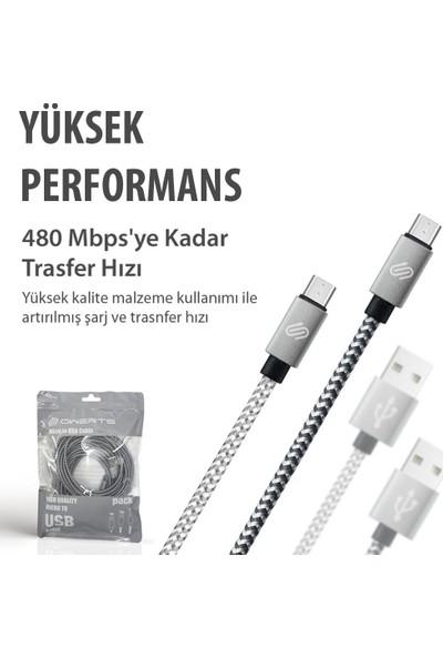 Qspeed Micro USB Şarj ve Data Kablosu Gümüş - 2 mt