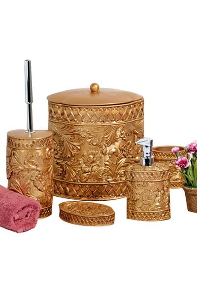 Kosova Polyester Banyo Seti İkra (Altın) 112-Poly