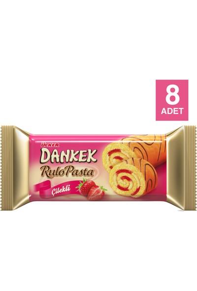 Ülker Dankek Rulo Pasta Çilekli 235 gr x 8 Adet