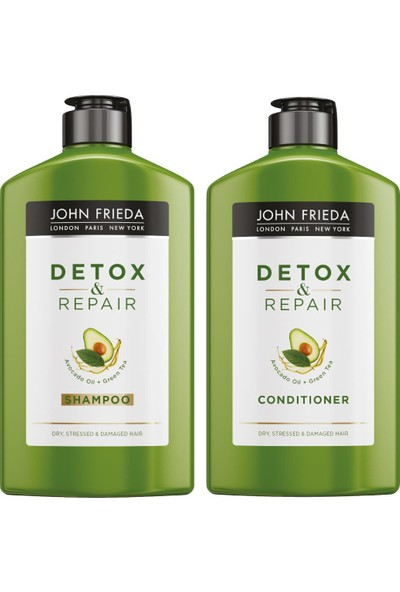 John Frieda Detoks Etkili Onarıcı Bakım Şampuanı 250Ml + Bakım Kremi 250Ml