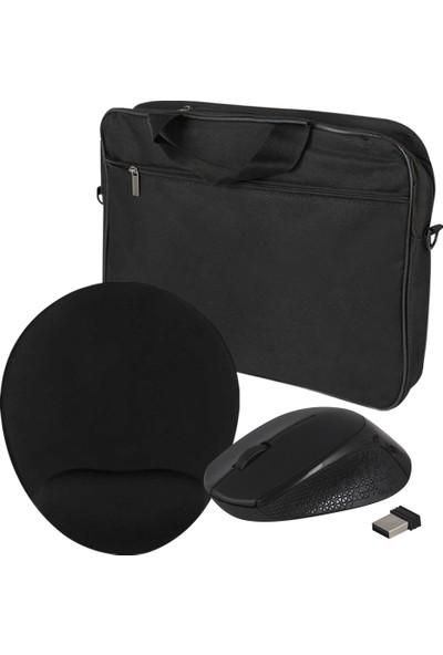Evocase EVO300 15,6'' Notebook Çantası (EVO301 Bilek Destekli Mousepad + Dexim M91 Kablosuz Mouse) Set