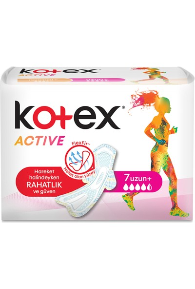 Kotex Active Flex fit 7'Li Uzun