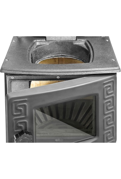 Erendemir Siyah Mini Şömine Soba Döküm