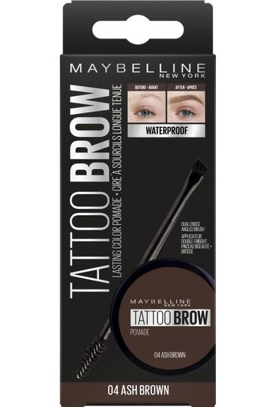 Maybelline New York Tattoo Brow Kaş Pomadı - 04 Ash Brown (Koyu Ton)