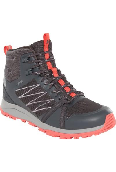 The North Face Litewave Fastpack II Mid GTX Kadın Ayakkabı Gri/Kırmızı