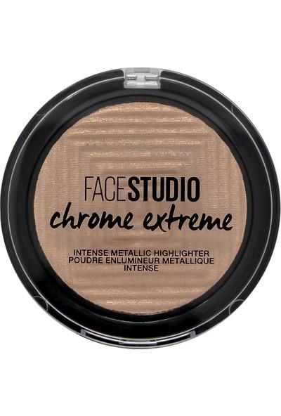Maybelline New York Face Studio Chrome Extreme Metalik Aydınlatıcı Pudra - 300 Sandstone Shimmer