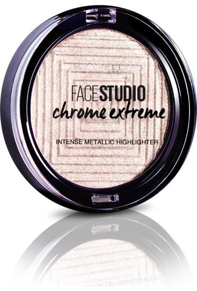 Maybelline New York Face Studio Chrome Extreme Metalik Aydınlatıcı Pudra - 200 Diamond Glow