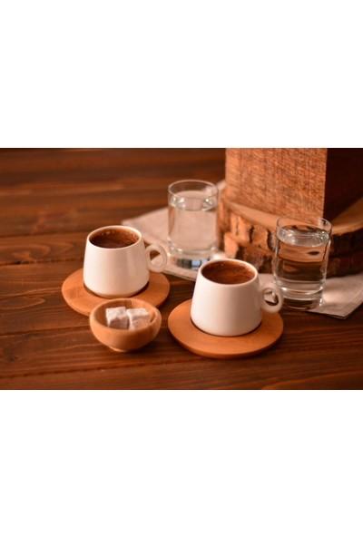 Evim Tatlı Evim Ottoman İki Kişilik Kahve Takımı Sade