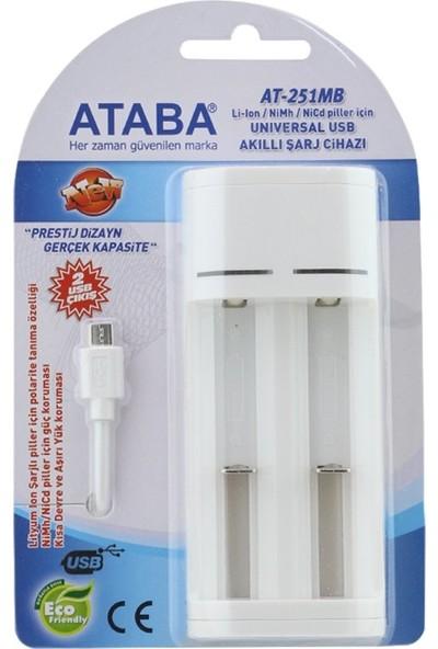 Ataba AT-251MB Universal USB Akıllı Pil Şarj Cihazı