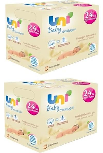 Uni Baby Islak Havlu Yeni Doğan 48'li Set Pamuklu Mendil Paket