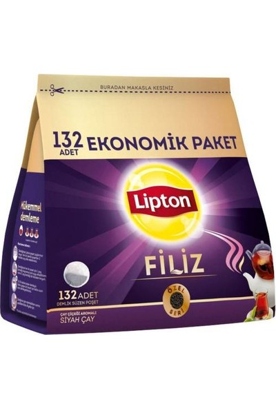 Lipton Filiz Demlik Poşet Çay 132'li