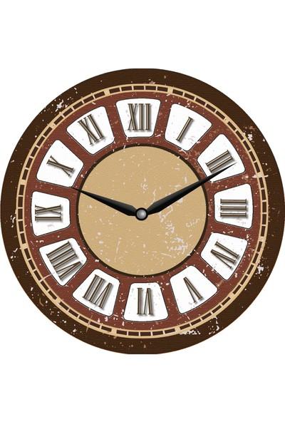 Ahşap Yuvarlak Dekoratif Duvar Saati 50X50 *uv Baskı