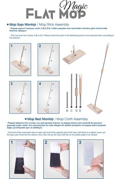 DP Home Magic Flat (Tablet) Mop Set + 1 Yedek Bez