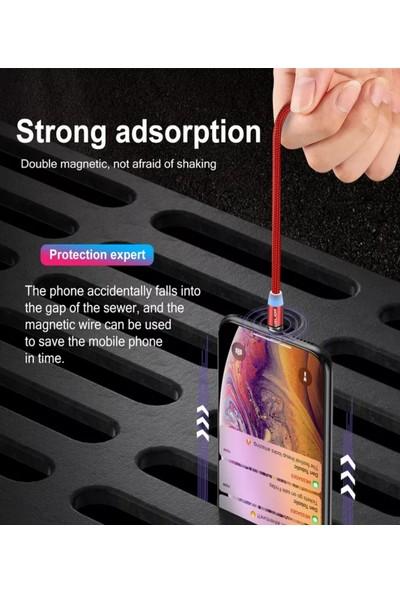 Judas Type-C Magnetic Hızlı Dayanıklı Şarj Kablosu 1 mt - Kırmızı