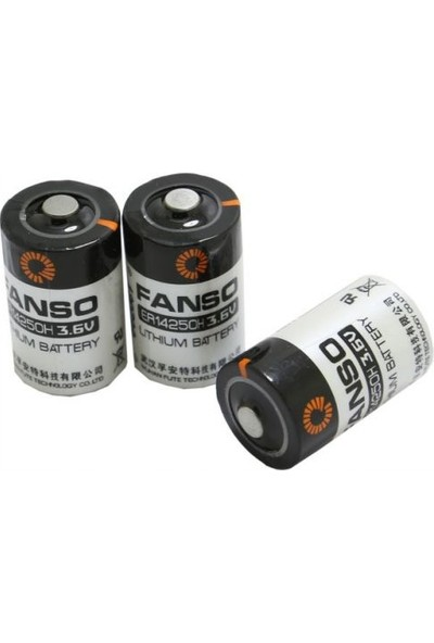 Fanso ER14250 3.6V 1/2AA Kısa Lithium Pil